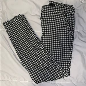 Zara black and white patterned pants